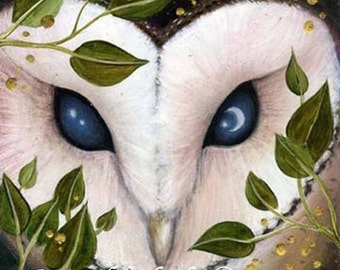 SALE!!   Luna Eyes.   Limited edition giclee art print by Amanda Clark.