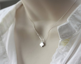 Club in Silver, Best of Summer, Las Vegas Vacation, Dainty Necklace, Summer Jewelry, Dainty Silver Necklace, Birthday Gift for Wife, for Sis