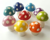 3 Little Clay Mushrooms | MADE TO ORDER Set of 3 Miniature Mushrooms | Fairy Garden Mushroom Toadstool Terrarium Decoration
