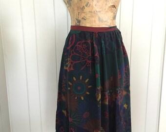 Silk Peasant Skirt