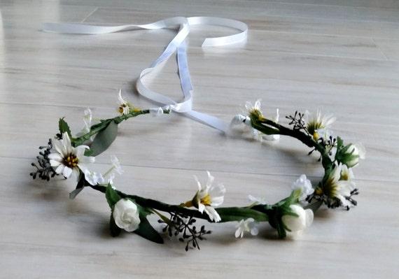 Wedding Floral Crown Hair Wreath Flower Girl Halos Seeded Eucalyptus