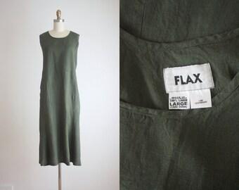 FLAX linen field dress