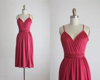 1970s boysenberry dress