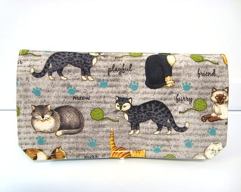 Coupon Organizer Cash Budget Organizer Holder- Attaches to your Shopping Cart  Cats on Gray