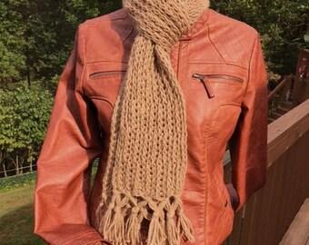 Hand knit 100% Alpaca Scarf