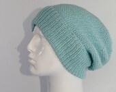 4 Ply Unisex Moss Stitch Slouch Hat CIRCULAR knitting pattern by madmonkeyknits - instant digital file pdf download knitting pattern