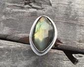Labradorite Ring Sterling Silver Handmade By Wild Prairie Silver Jewelry