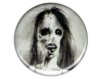 """Scary Stories To Tell In The Dark Haunted House button pin pinback badge 1.5"""" ONE & a HALF INCH handmade homemade ghost stories horror magne"""