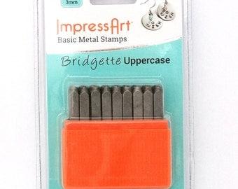 Basic Bridgette Upper Case Letter Metal Stamp Set 3mm
