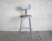 Vintage Industrial Stool / Retro Seating for Workbench, Drafting Table, Kitchen Island, Etc.