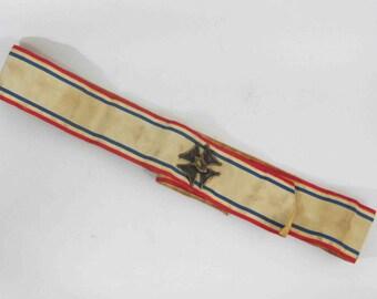 Vintage Knights of Columbus Sash and Maltese Cross Badge. Circa 1930's.
