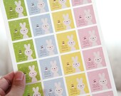 48 For-You Bunny Stickers - FREE SHIPPING with other purchase