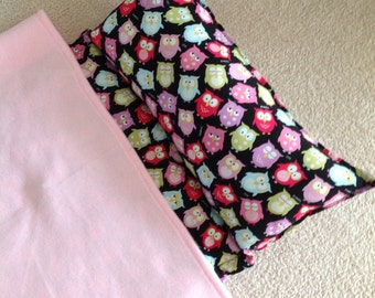 Nap Mat. Girls, Personalized free,  Great for Daycare, Preschool or Kindergarten. Snoozing owls