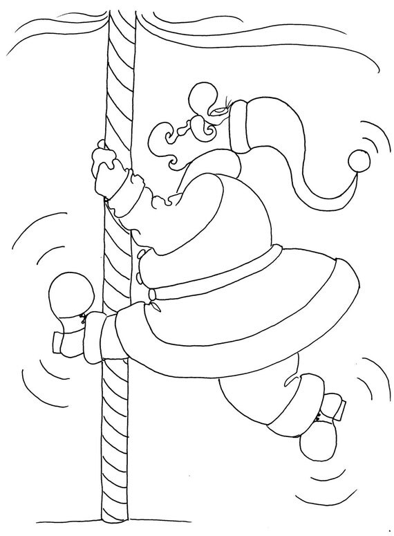 north pole dancing christmas coloring pages for adults from