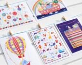 POSTCARDS - CHILDREN'S SET - set of 5 with envelopes
