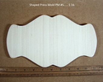 Press Mold Shape #5 by Drop Bach for Hand Building with Clay