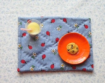 18 inch doll blue lady bugs set of doll placemats