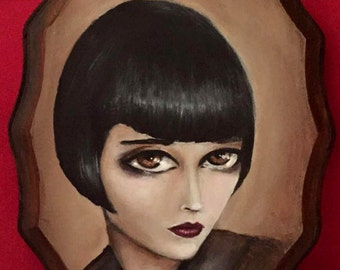 LOUISE BROOKS  giclee PRINT by Nina Friday