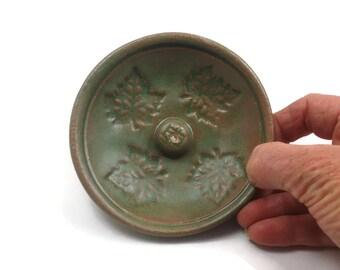 INCENSE BURNER Handmade Ceramic Pottery MAPLE Leaves