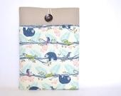 Cute iPad Case, Apple iPad Pro Case, iPad Air Sleeve Case Padded with Pocket - Sloths