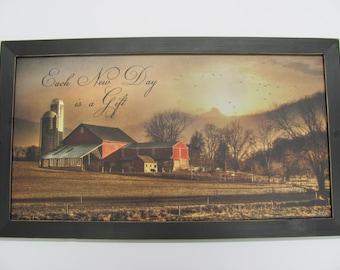 Farm Art Work, Barn Artwork,Country Artwork, Each New Day Is A Gift, Lori Dieter,