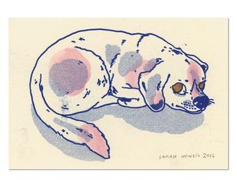 Hand painted Dog Print 06