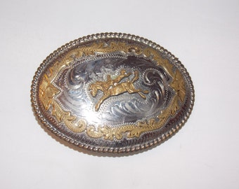 1970s Western Cowboy Belt Buckle