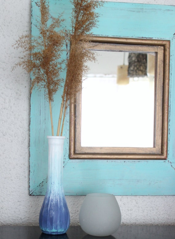 Ombre Hand Painted Coastal Vase Beach house by ElaLakeDesign