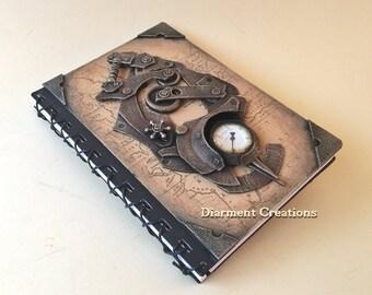 Steampunk Notebook Time Traveler