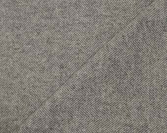 Large Dark Grey Herringbone Felted Wool Fabric Perfect for Rug Hooking, Quilting, Applique, and Crafts by Quilting Acres