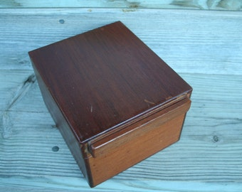 Vintage Wood Storage / Recipe Box