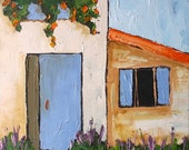 Impressionist PROVENCE Villa Chateau Lavender Garden Plein Air Landscape Oil Painting Original Art Lynne French 12x16