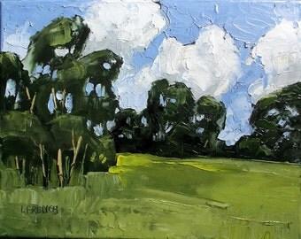 Impressionist Painting California Plein Air Landscape Santa  Maria Meadow Lynne French 11x14