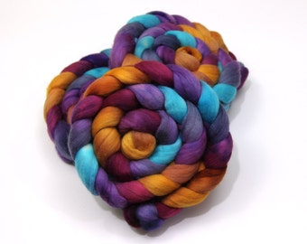 Ultrafine Merino Wool Roving (Combed Top) - 15.5 Micron - Luxury Handpainted Fiber for Spinning or Felting