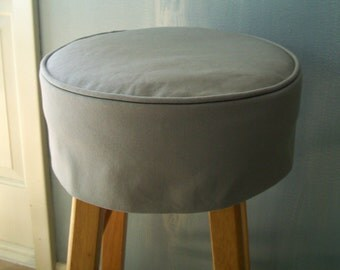 Square Barstool Linen Slipcover Bar Stool By Applecatdesigns