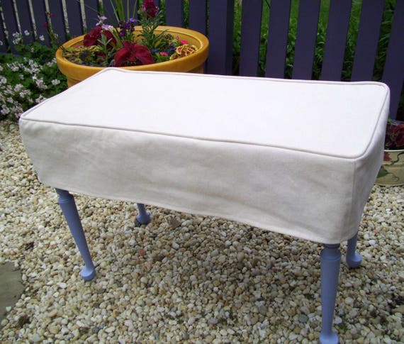 Piano Bench Slipcover Bench Cover Ottoman Slipcover