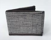 Bi fold wallet, men's wallet, recycled wallet, fabric wallet