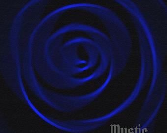 Spiral Background 4 Blue  Digital Paper