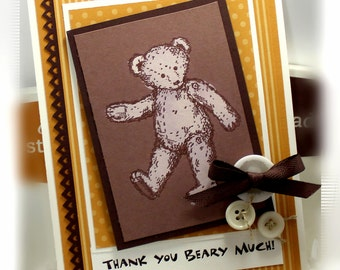 Stampin' Up Thank You Beary Much card