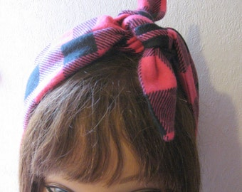 Winter Headband, Flannel Hair Band, Winter Fashion, Accessories, Women Headwrap, Ear Warmer, Boho Hair  239