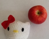 Gifts for your favorite Teachers and Secretary's - Hello kitty-Apple cozy - Crochet knit