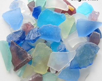 Beach House Decor Bulk Sea Glass, Nautical Wedding Decor Bulk Beach Glass, Bulk Seaglass, Beach Wedding Decor, BRIGHT MIX, 2 Lbs, #SGBBM