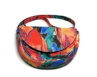 Vintage Colorful Shoulder Bag Vintage Leather Handbags Shoulder Bags For Women Multicolor Leather Handbags Small Shoulder Purse Colorful bag
