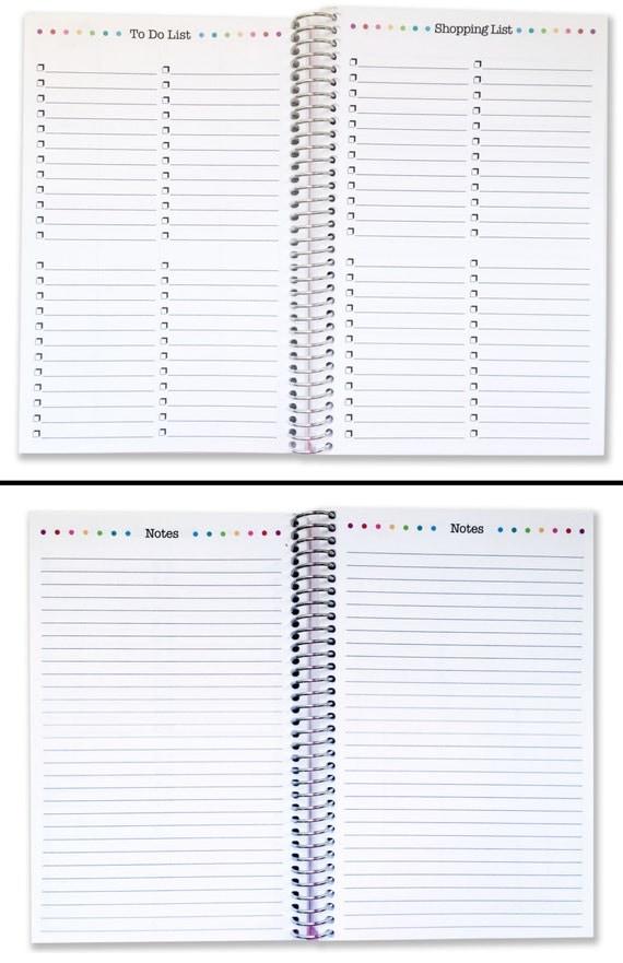 Calendar Planner Book : Monthly planner book  calendar by mod designery
