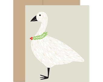 Christmas Stationery, Christmas Goose Cards, Goose Greeting Cards, Xmas Greetings, Box Set Xmas Cards, Xmas Novelty Cards