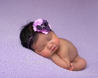 Headband Newborn Tieback Baby Halo READY to Ship Photo Prop Single Bloom Delicate Toddler Headdress Wedding Party Flower Girl Accessory