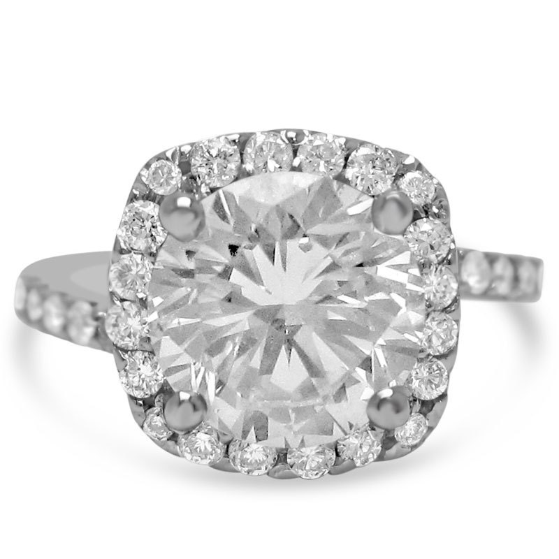 8mm round cut moissanite diamonds antique style engagement. Black Bedroom Furniture Sets. Home Design Ideas