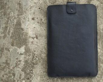 "11"" MacBook Air leather case, vintage black laptop sleeve Leather Laptop Case Womens Laptop Case computer bag MacBook Case"