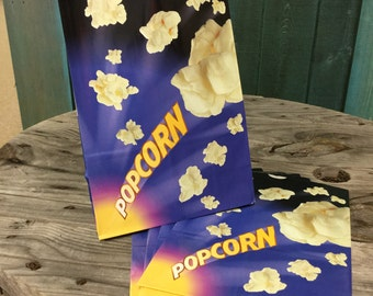 Popcorn Bags - 7 1/2 x 11 x 3 3/4 inches - Gusseted with a flat bottom - set of 50
