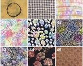 Batik Fabric Samples for Custom Orders - Not For Sale